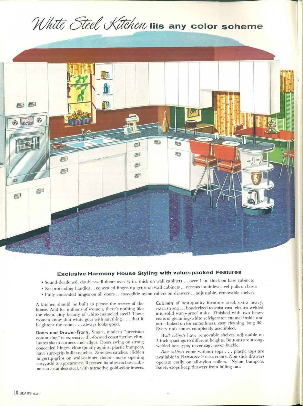 10 Sears kitchen cabinets and more - 10 page catalog -  Home  - Vintage Sears Kitchen Cabinets