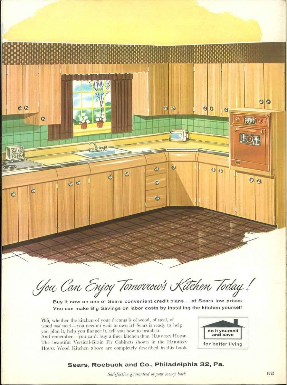 10 Sears kitchen cabinets and more - 10 page catalog -  Retro  - Vintage Sears Kitchen Cabinets