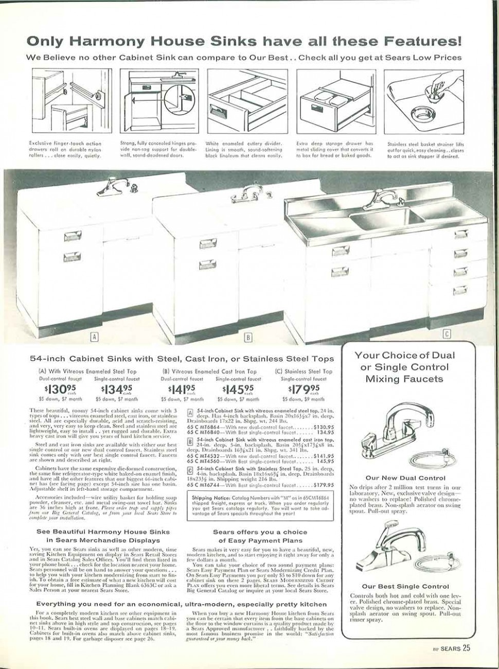 10 Sears kitchen cabinets and more - 10 page catalog - - Vintage Sears Kitchen Cabinets