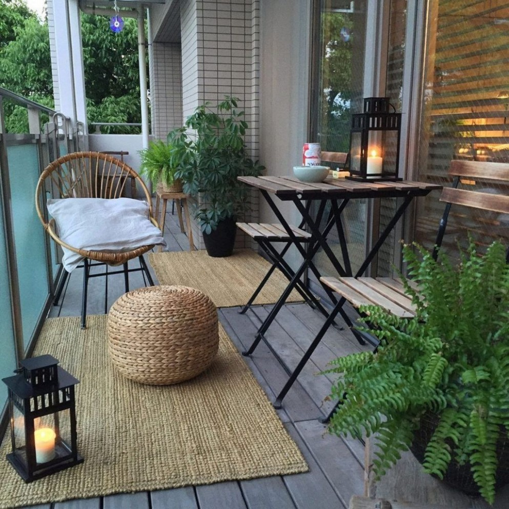 10 Small Apartment Balcony Decorating Ideas  Apartment patio  - Apartment Yard Design