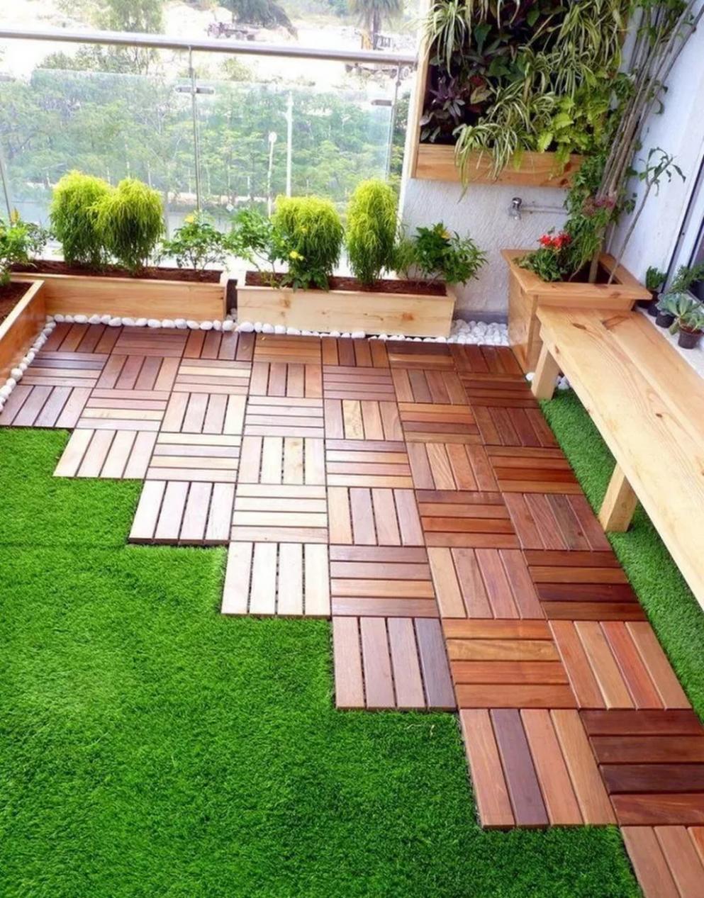 10 Small Apartment Balcony Garden Design Ideas  Backyard  - Apartment Yard Design