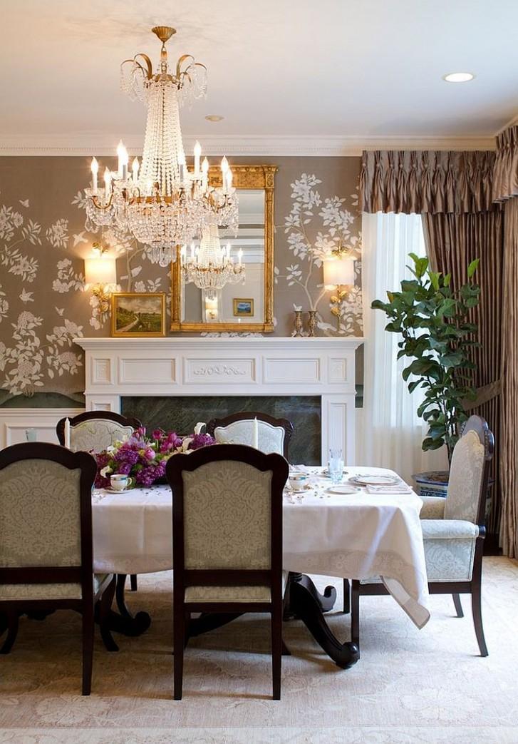 10 Splendid Wallpaper Decorating Ideas for the Dining Room - Dining Room Wallpaper Ideas Uk