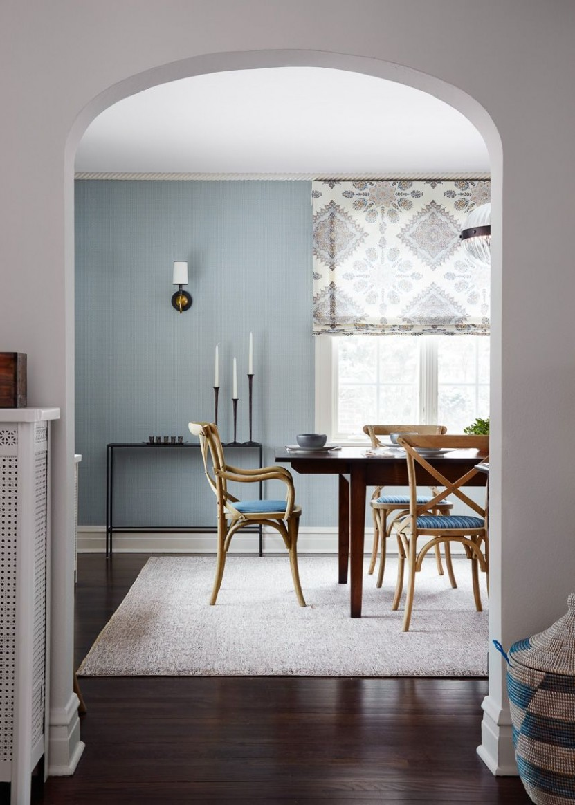10 Stylish Blue Walls - Ideas for Blue Painted Accent Walls - Dining Room Ideas Blue Walls