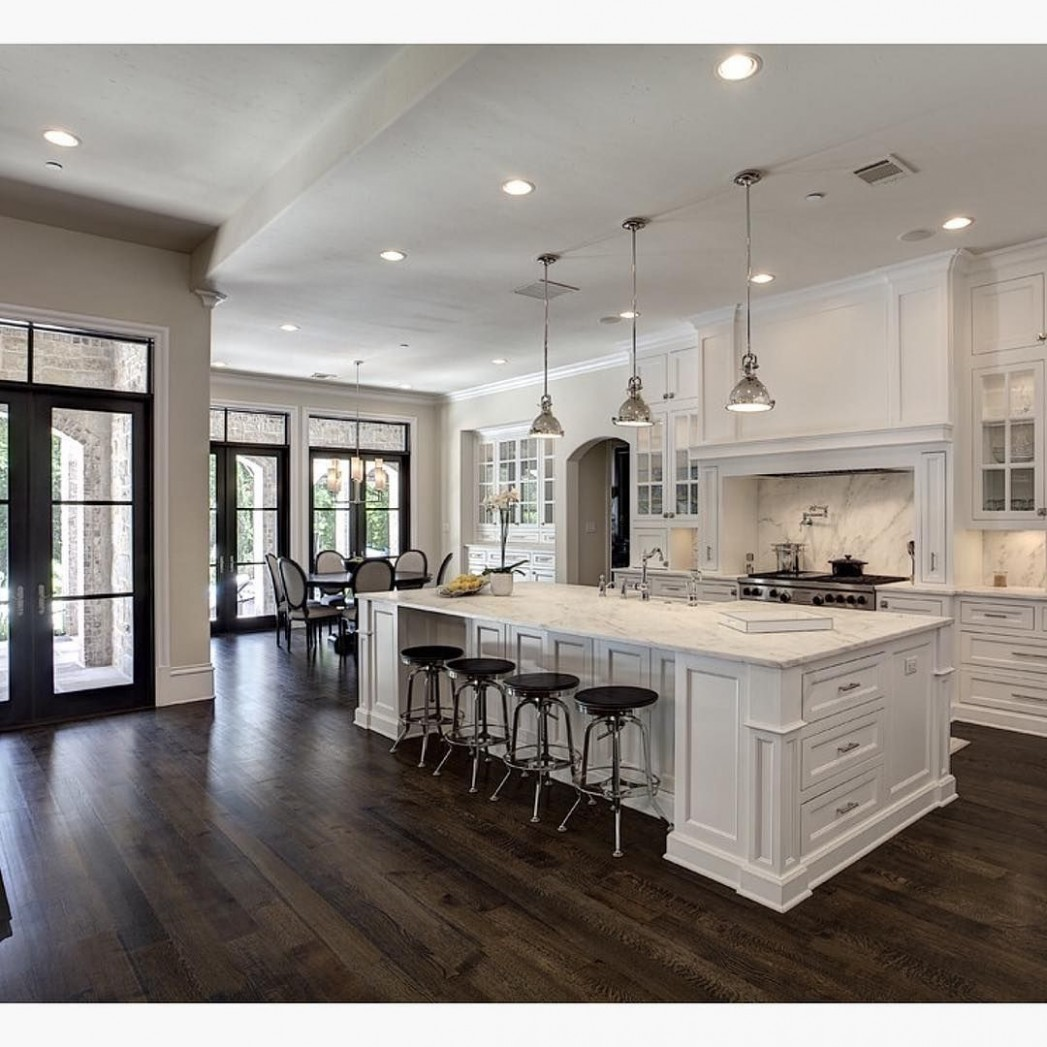 10 Stylish Dark Hardwood Floors with White Cabinets  Unique  - What Color Kitchen Cabinets With Dark Hardwood Floors