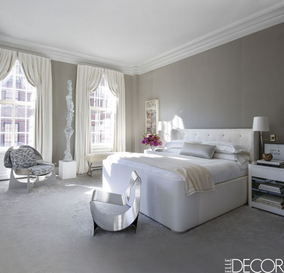10 Stylish Gray Bedrooms - Ideas for Gray Walls, Furniture & Decor  - Bedroom Ideas Grey And White