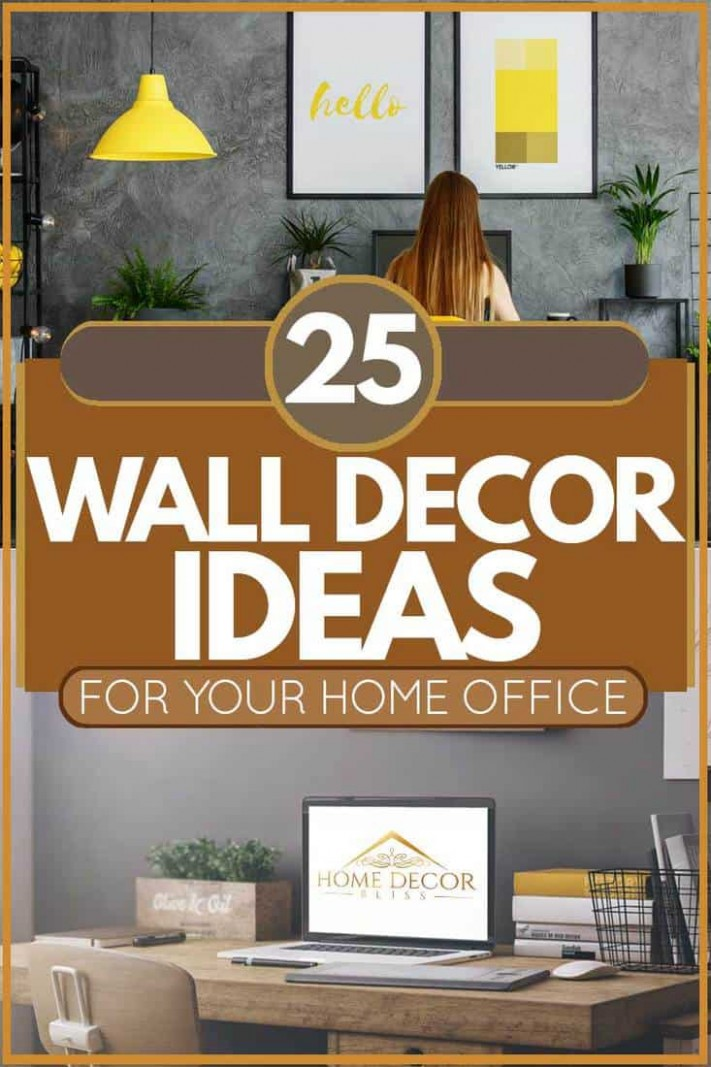 10 Wall Decor Ideas For Your Home Office - Home Decor Bliss - Wall Decor Ideas Office