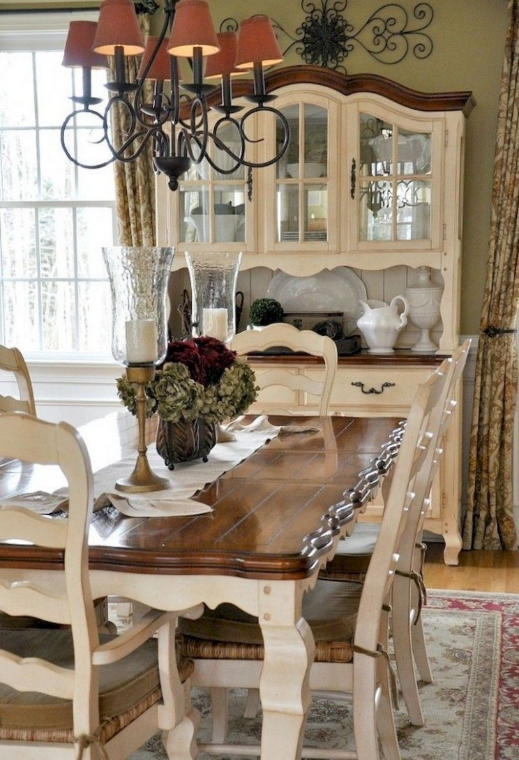 11+ Amazing French Country Dining Room Decor Ideas #diningroom  - Dining Room Ideas Country Style