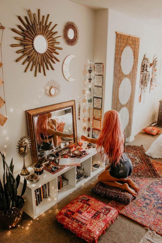 11+ Beautiful Hippie Bedrooms Ideas Features  Inspira Spaces  - Bedroom Ideas Hippie