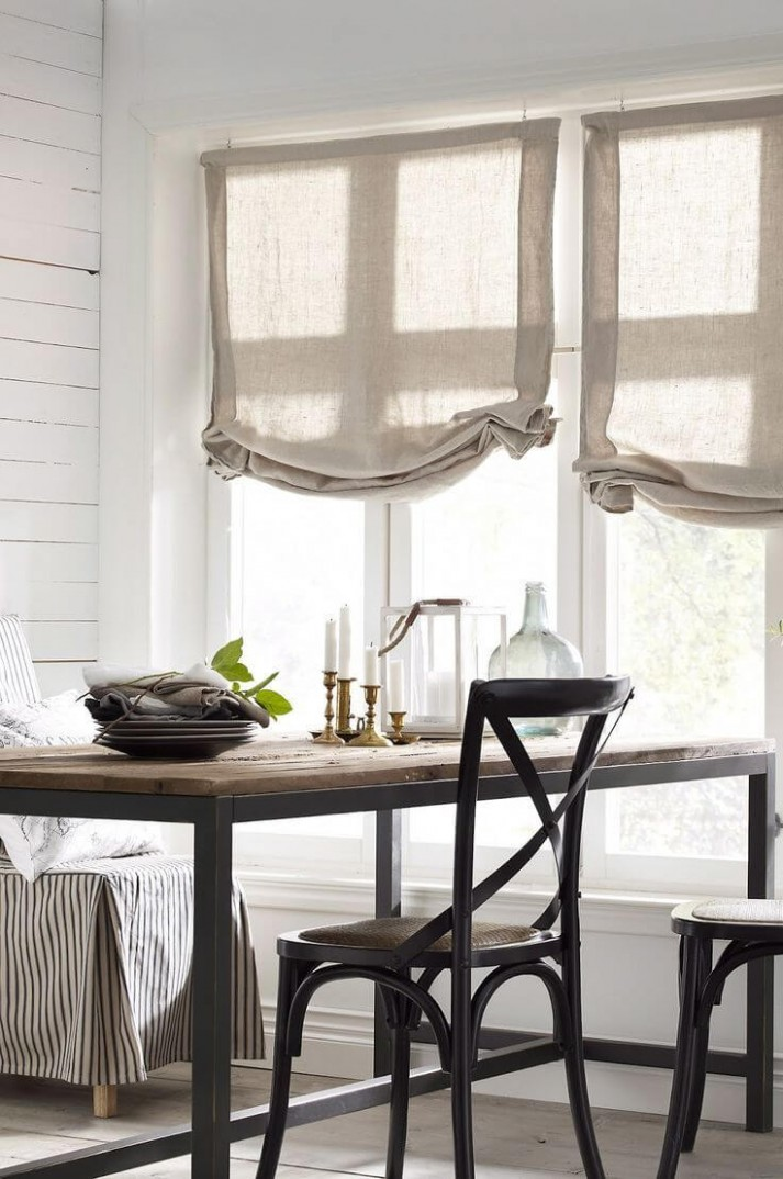 11 Best Farmhouse Window Treatment Ideas and Designs for 11 - Dining Room Window Valance Ideas