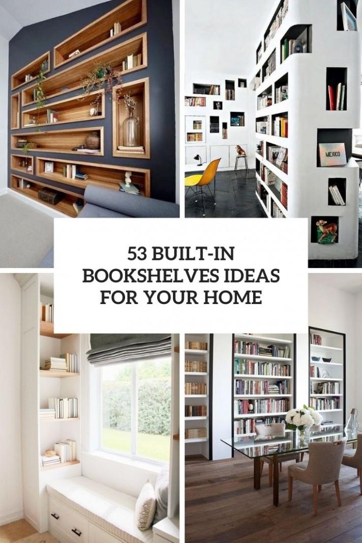 11 Built-In Bookshelves Ideas For Your Home - DigsDigs - Home Office Bookshelf Ideas