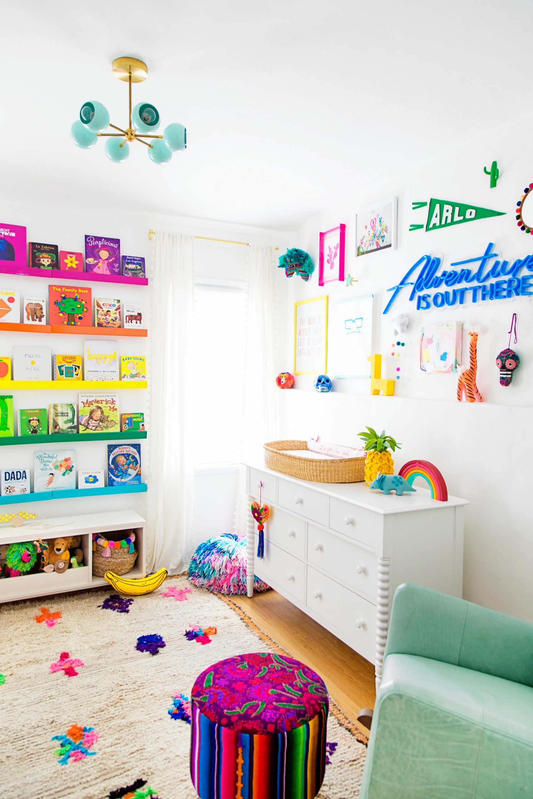 11 Colorful Decor Ideas For A Rainbow Themed Nursery - Baby Room Rainbow