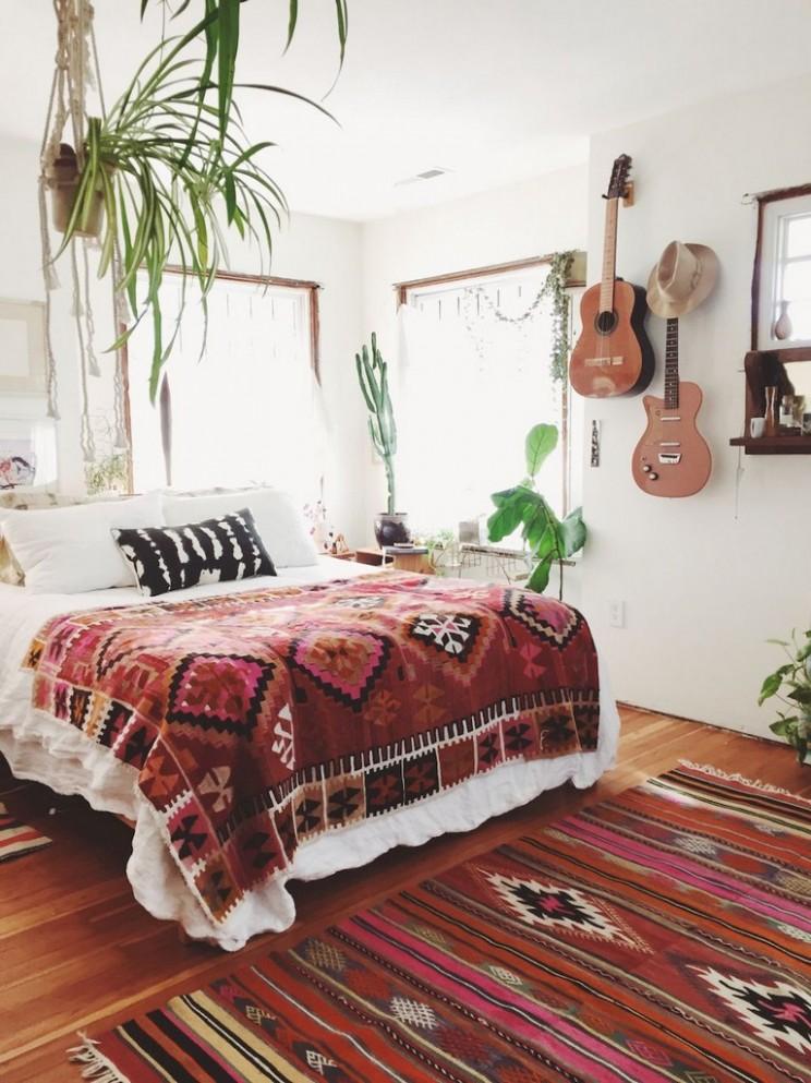11+ Comfy Hippie Bohemian Bedroom Decor Ideas - Bedroom Ideas Hippie