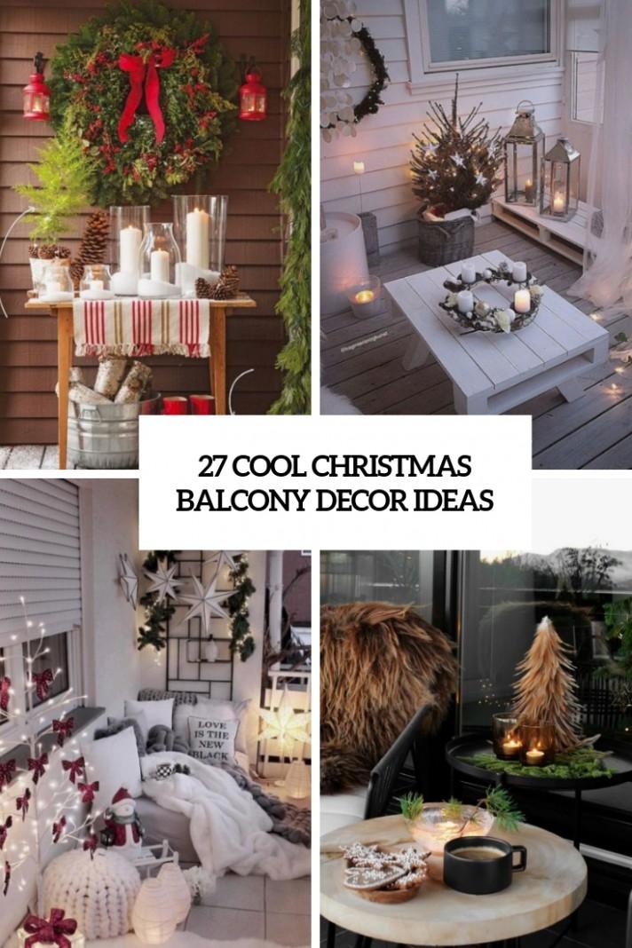 11 Cool Christmas Balcony Décor Ideas - DigsDigs - Apartment Balcony Decorating Ideas Christmas