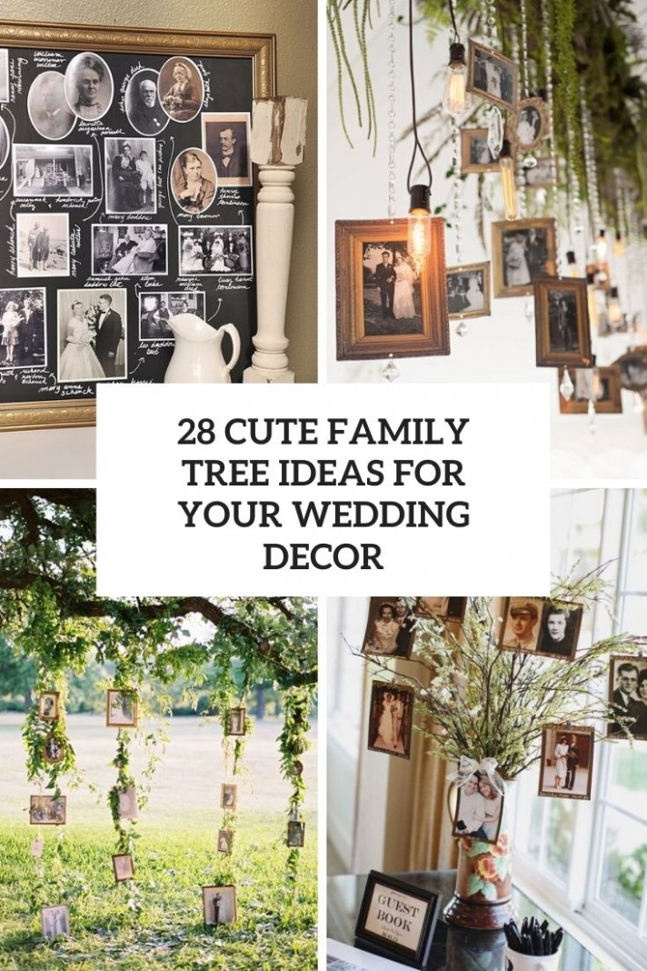 11 Cute Family Tree Ideas For Your Wedding Decor - Weddingomania - Apartment Decorating Ideas Wedding