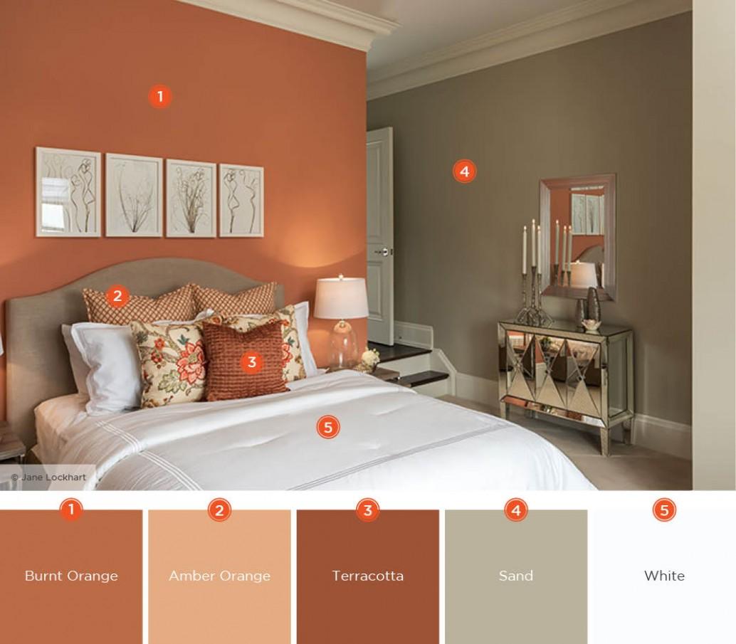 11 Dreamy Bedroom Color Schemes  Shutterfly - Bedroom Ideas Orange