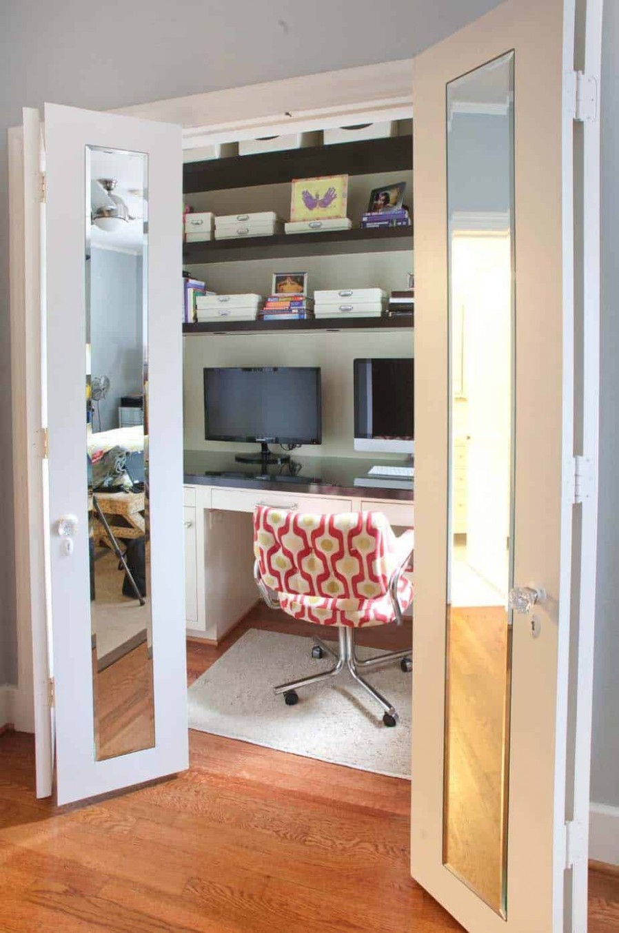 11 Fabulous ideas for a home office in the bedroom - Closet Office Ideas