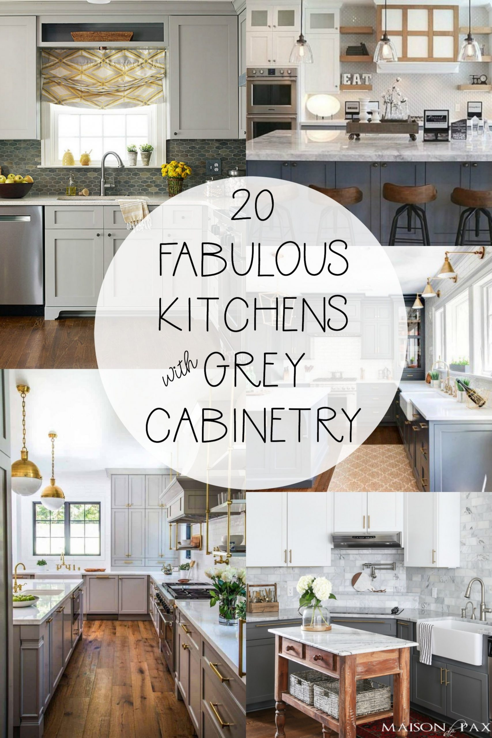 11 Fabulous Kitchens Featuring Grey Kitchen Cabinets  The Happy  - Beautiful Kitchens With Grey Cabinets