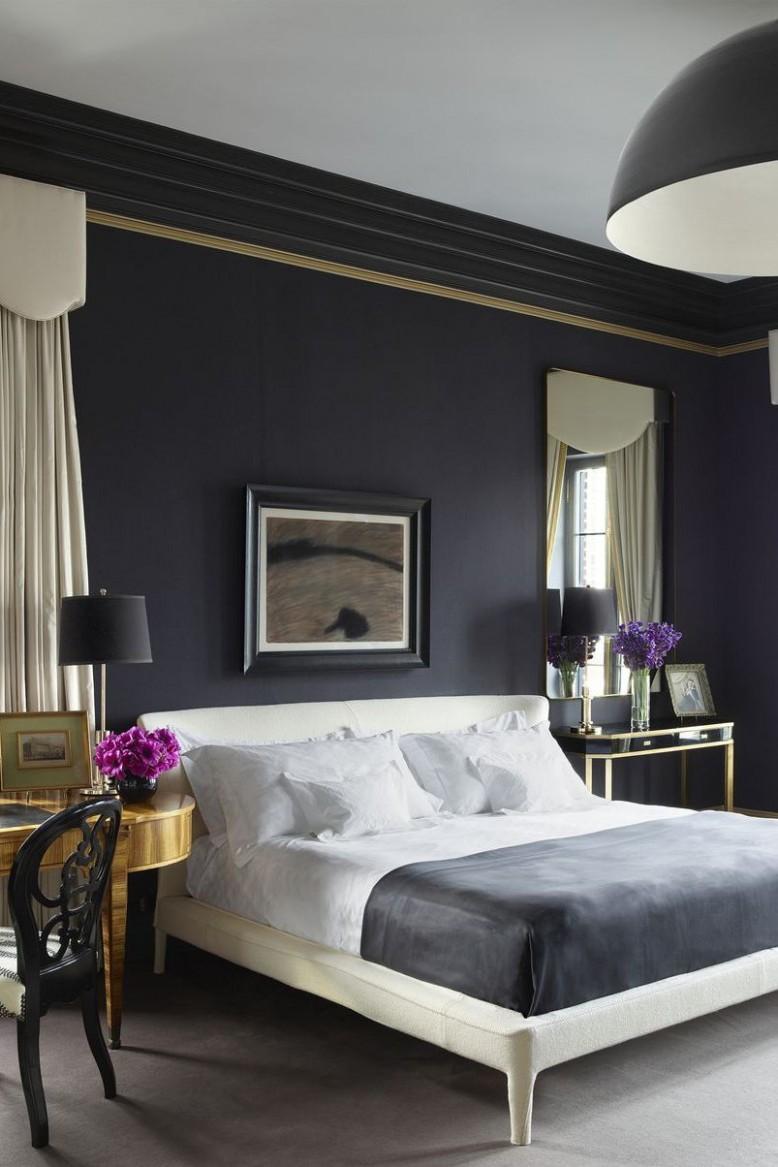 11 Gorgeous Dark Bedrooms - Bedrooms with Dark Color Palettes - Bedroom Ideas Dark Grey