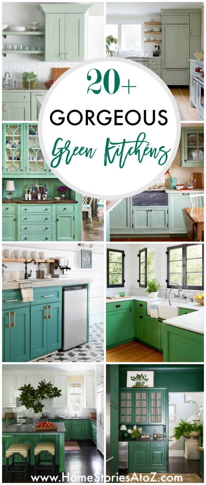11+ GORGEOUS GREEN KITCHEN CABINET IDEAS - Kitchen Cabinet Color Trends 2012