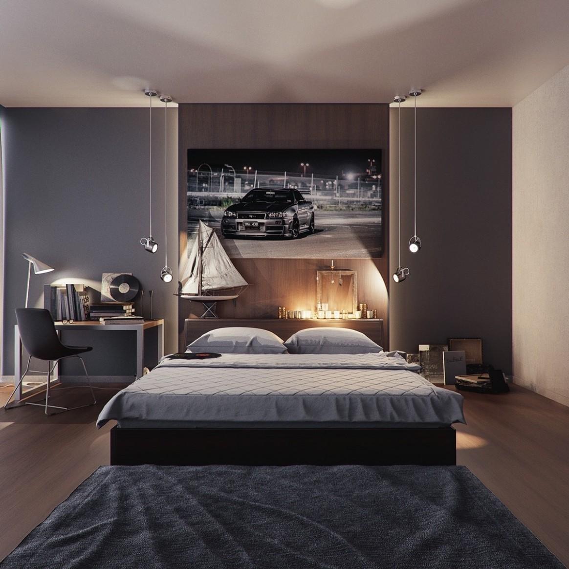 11 Gorgeous Grey Bedrooms - Bedroom Ideas Dark Grey