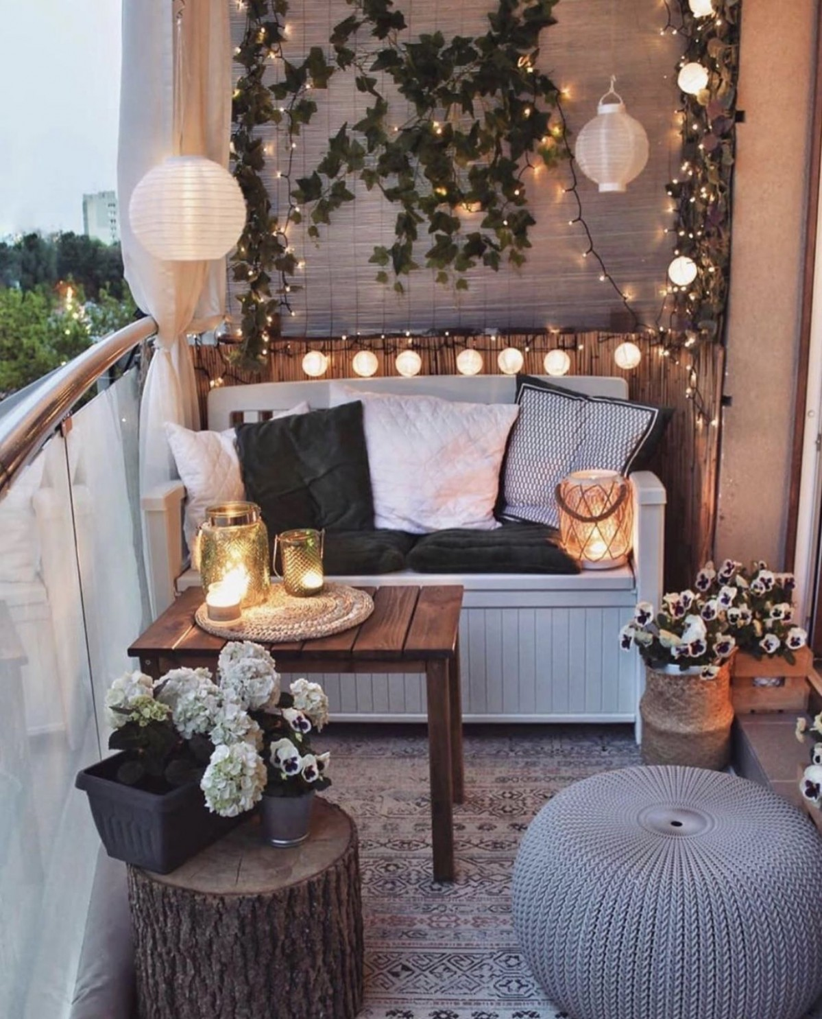11 Gorgeous Home Decor Ideas You Will Want to Copy  Chaylor  - Apartment Balcony Decorating Ideas You