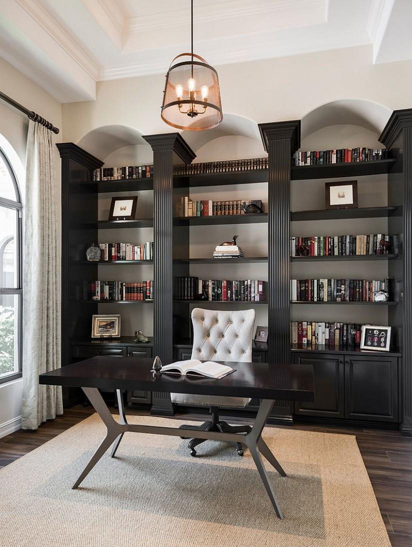 11 Home Office Shelving Ideas for an Efficient, Organized Workspace - Home Office Bookshelf Ideas