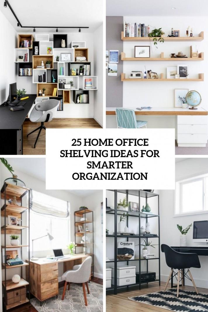 11 Home Office Shelving Ideas For Smarter Organization - DigsDigs - Home Office Bookshelf Ideas