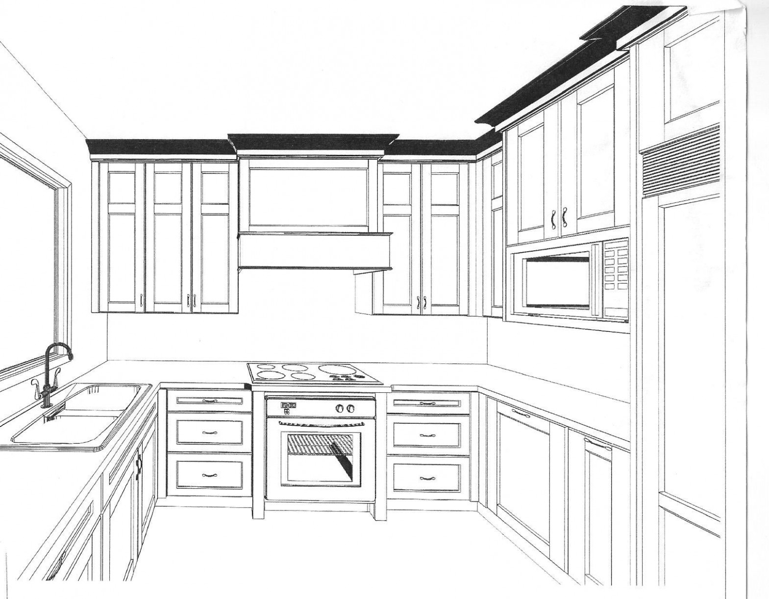 11+ How to Draw Kitchen Cabinets - Chalkboard Ideas for Kitchen  - Kitchen Cabinet Building Software