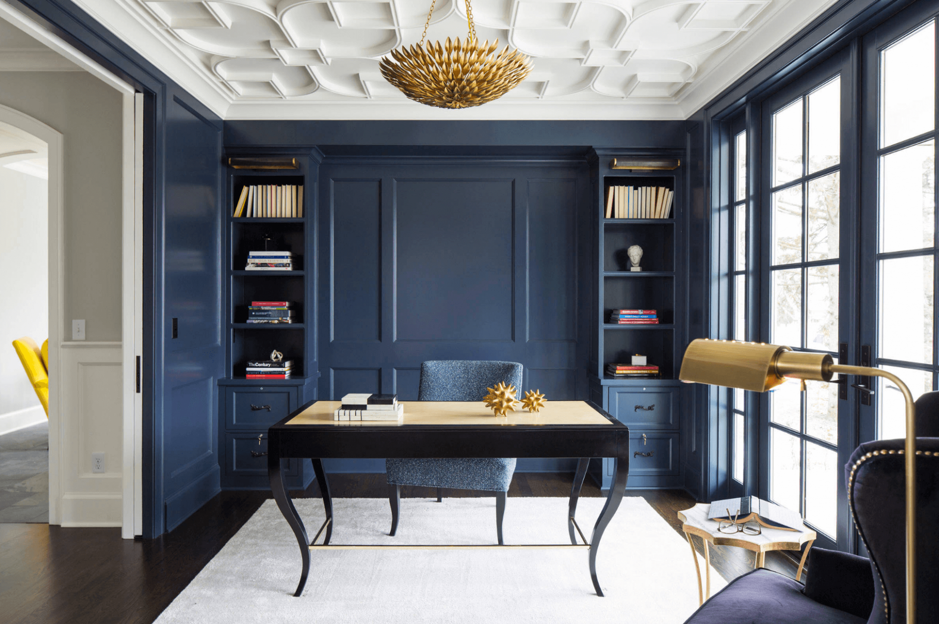 11 Modern and Chic Ideas for Your Home Office - Freshome  Office  - Home Office Molding Ideas