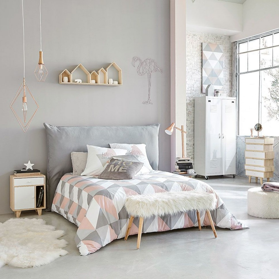 11 pink and grey bedroom ideas - pink and grey bedroom colour decor - Bedroom Ideas Pink