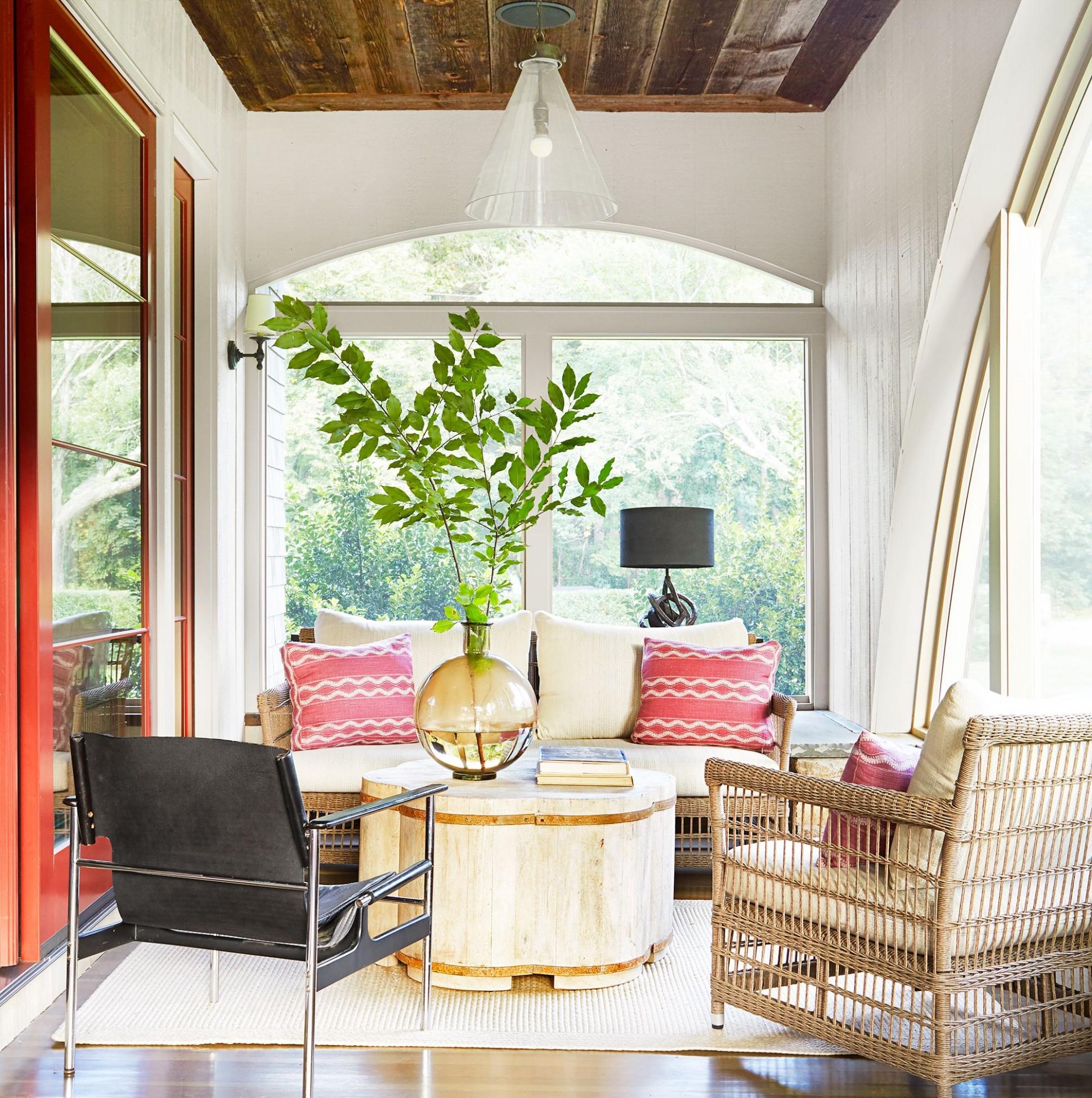 11 Pretty Sunroom Ideas - Chic Designs & Decor for Screened In Porches - Small Sunroom Off Bedroom