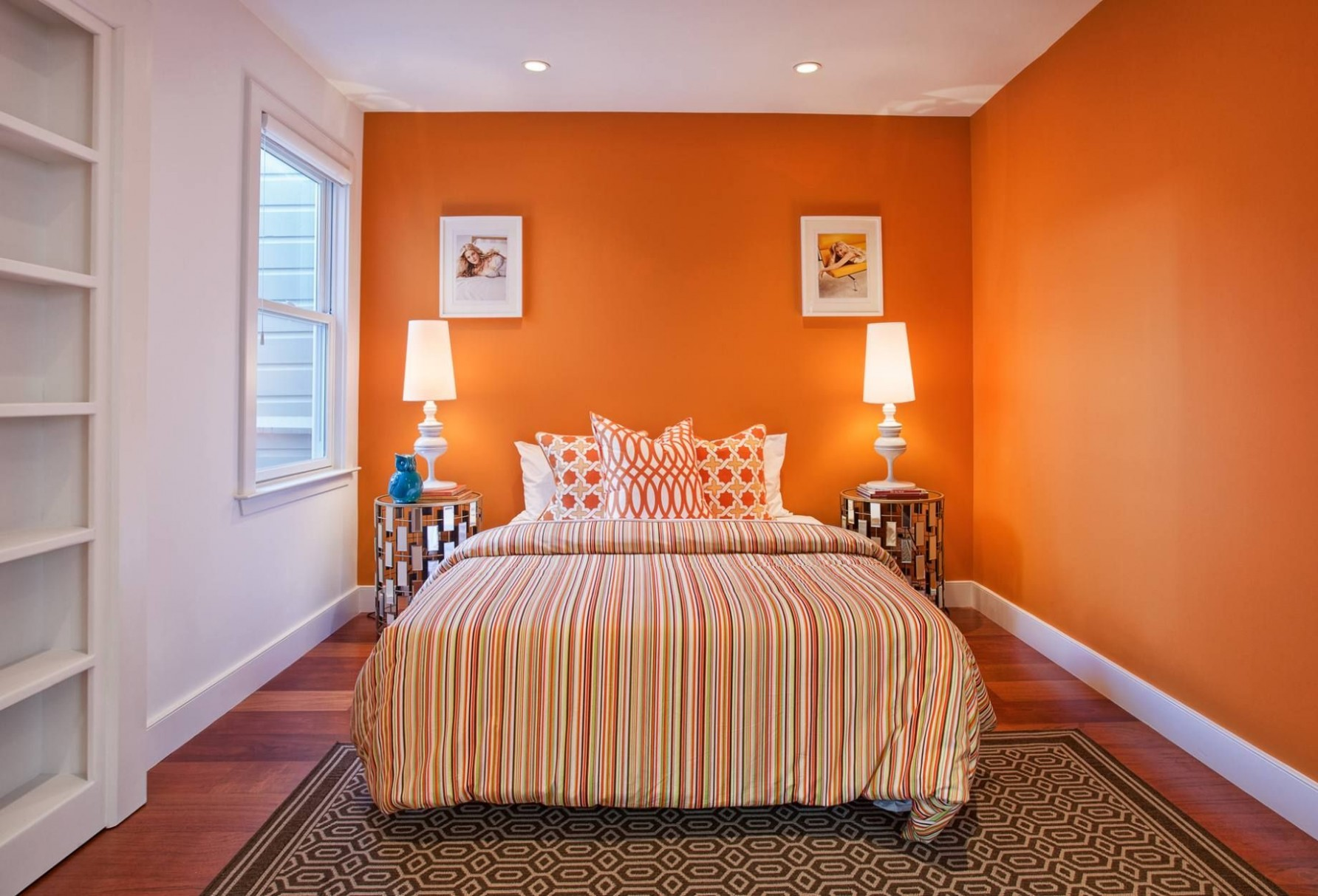 11 Refreshing Orange Bedroom Designs  Orange bedroom walls  - Bedroom Ideas Orange