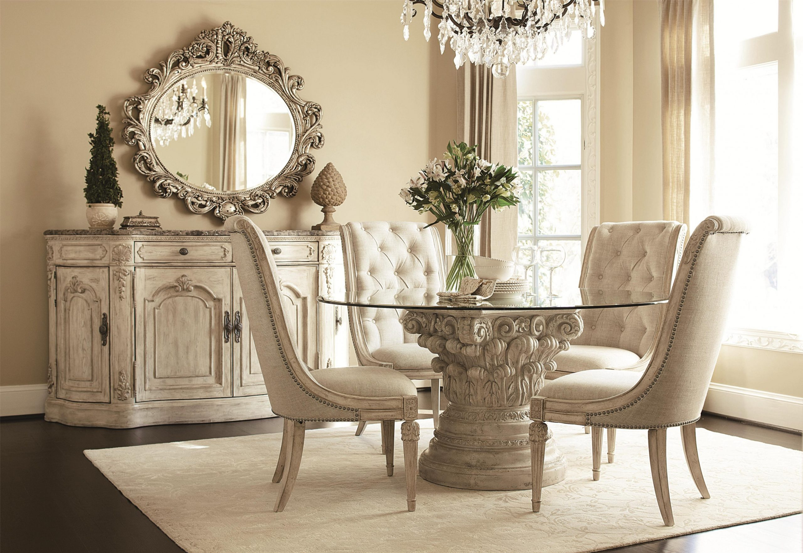 11 Rugs That Showcase Their Power Under the Dining Table - Dining Room Ideas Cream
