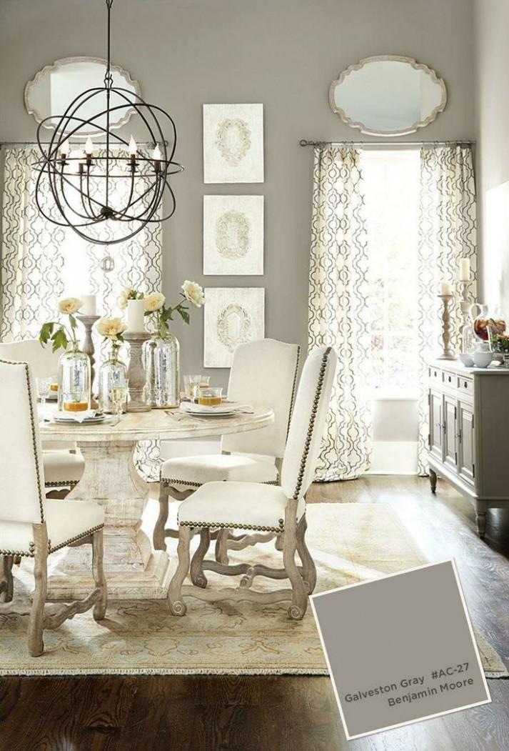 11 shades of GREIGE: gray & beige interior design  Grey dining  - Dining Room Ideas Cream