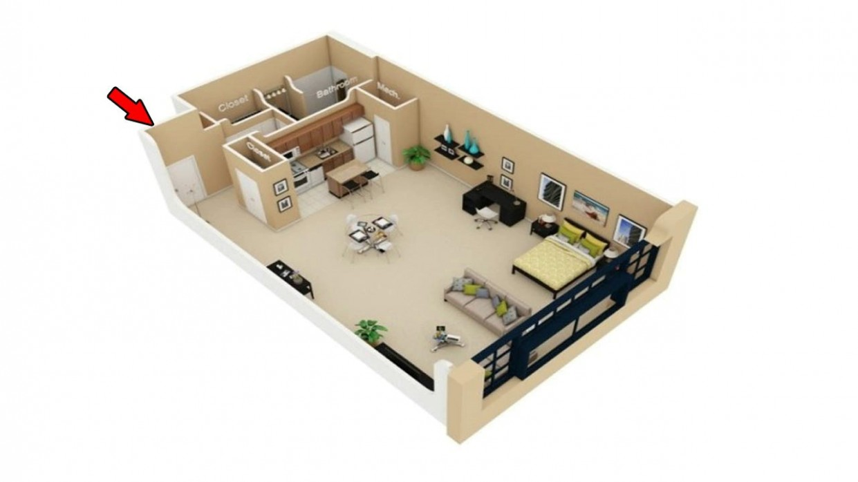 11 Simple Studio Apartment Floor Plans - Apartment Design And Floor Plan