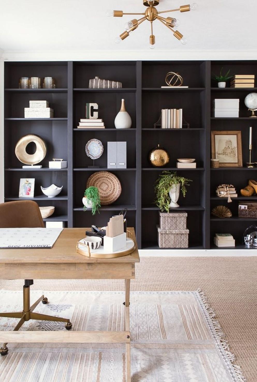 11 Stunning Modern Home Office Design Ideas  Home office decor  - Home Office Bookshelf Ideas