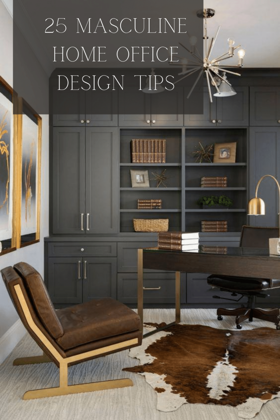 11 ULTIMATE MASCULINE HOME OFFICE IDEAS - Home Office Molding Ideas