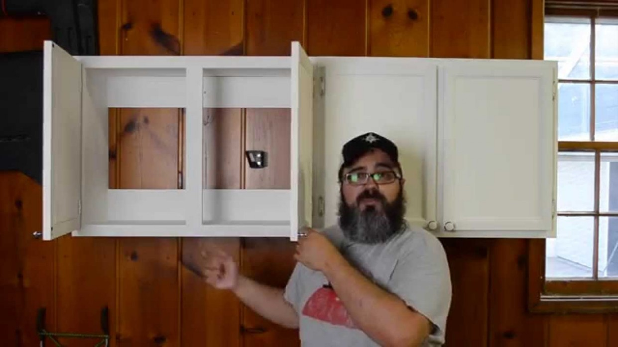 """112 Simple Cabinet Construction Pt 12 - """"Face Frames, Doors & More"""" - Wall Framing For Kitchen Cabinets"""