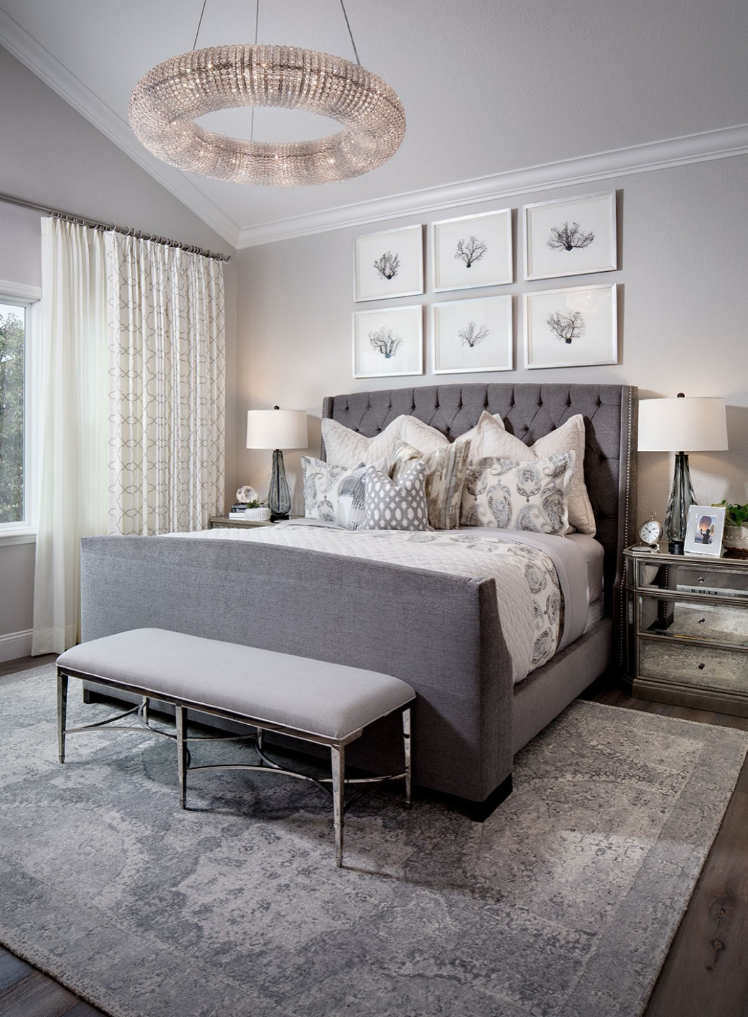 12 Beautiful Gray Bedroom Pictures & Ideas - November, 12  Houzz - Bedroom Ideas Grey Bed