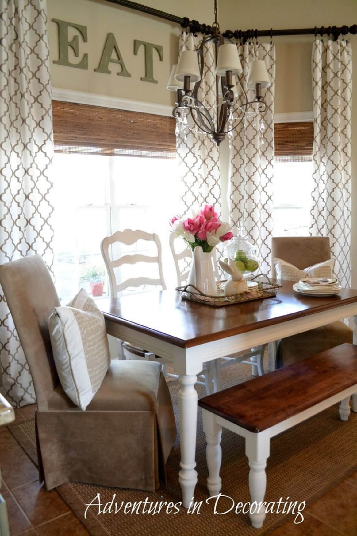 12 Best Farmhouse Window Treatment Ideas and Designs for 12 - Dining Room Valance Ideas