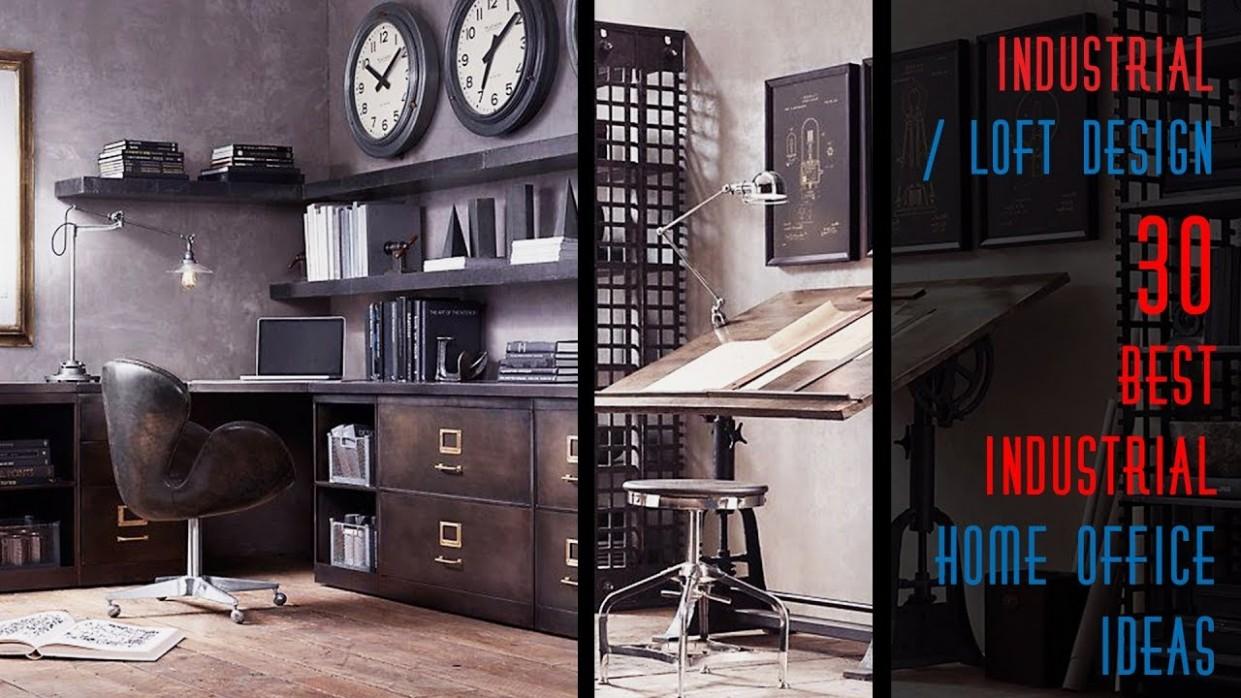 12 Best Industrial Home Office Ideas - Home Office Ideas Loft