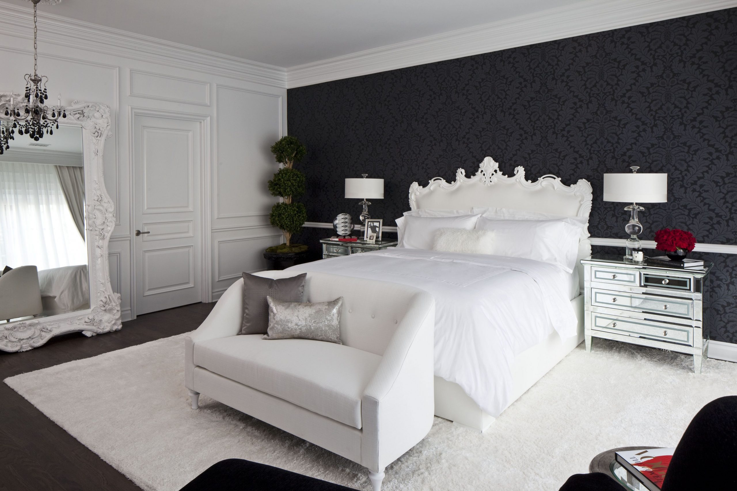 12 Black & White Bedrooms - Photos and Ideas for Bedrooms with  - Bedroom Ideas Black And White
