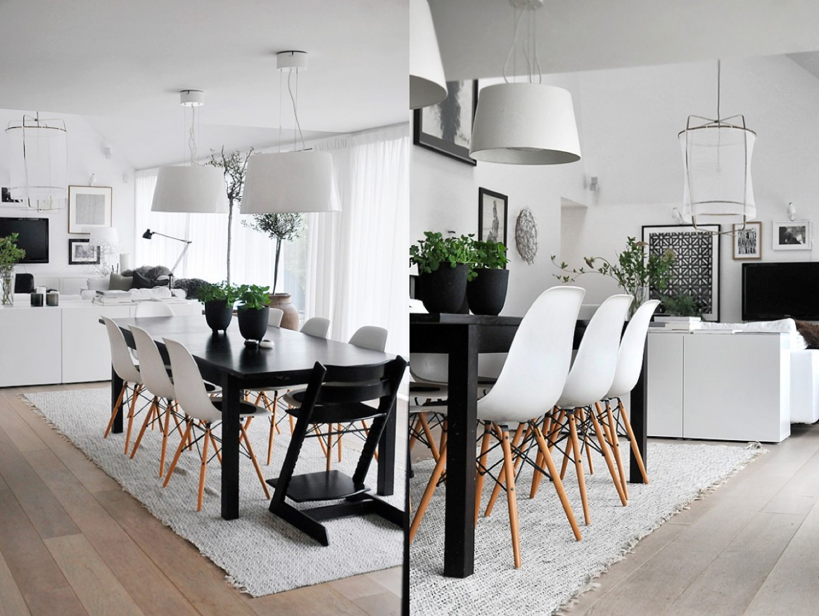 12 Black & White Dining Rooms That Work Their Monochrome Magic - Dining Room Ideas With Black Table
