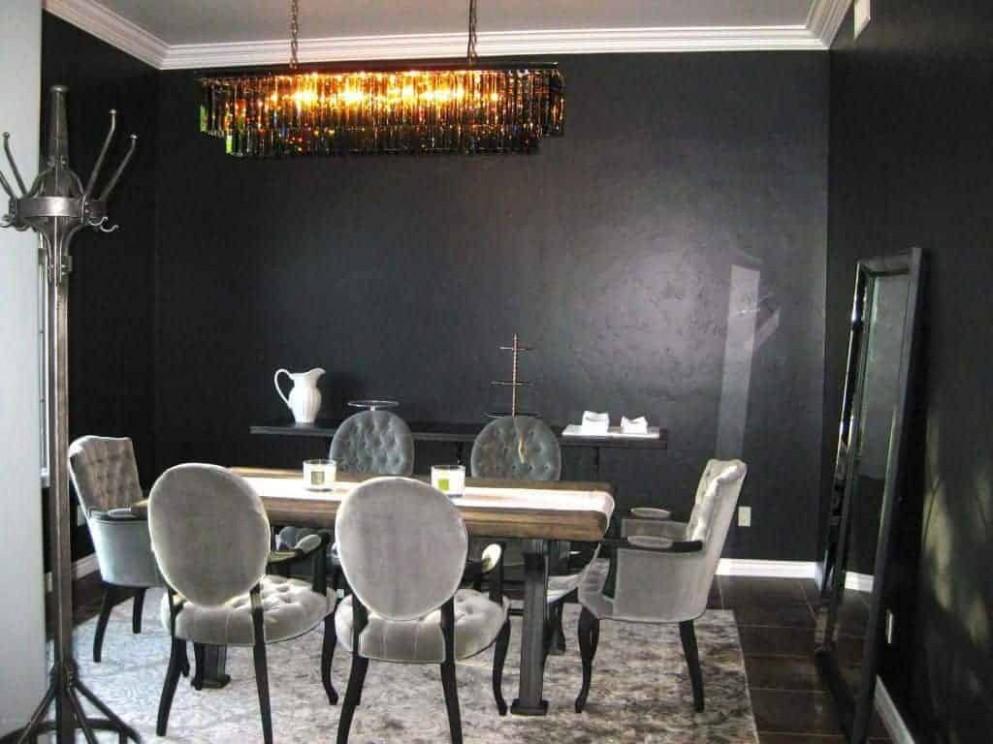 12 Black Dining Room Ideas (Photos) - Dining Room Ideas With Black Table