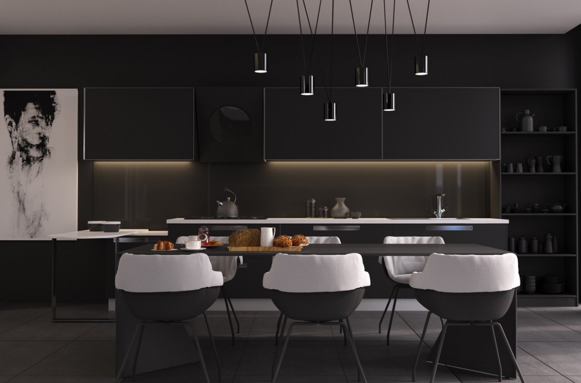 12 Black Dining Rooms That Your Dinner Guests Will Adore - Dining Room Ideas With Black Table