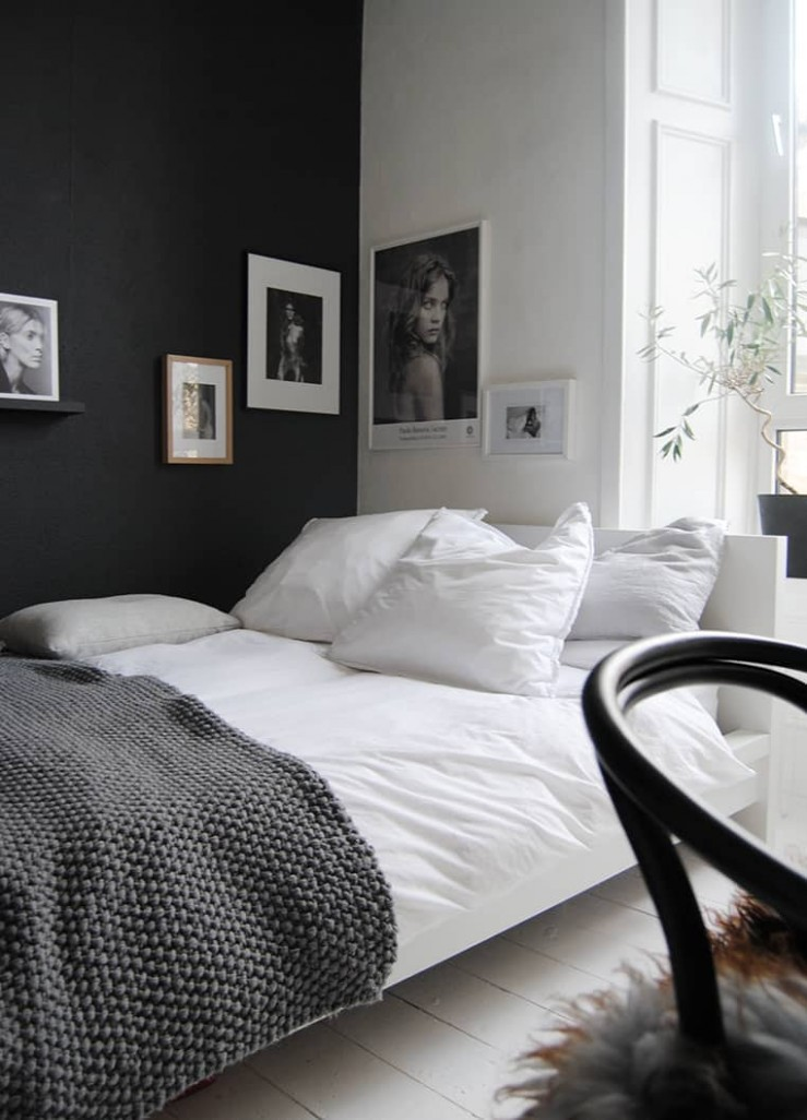 12 Chic and stylish bedrooms dressed in black and white - Bedroom Ideas Black And White