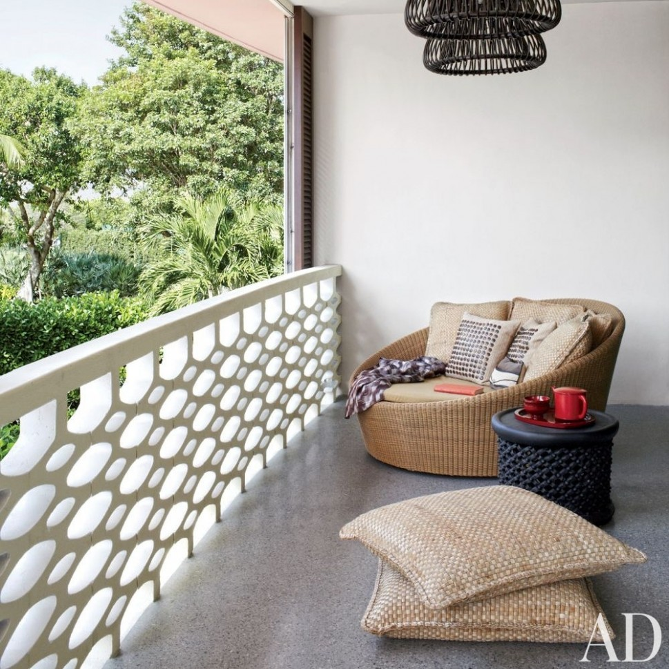 12 Cozy Balcony Ideas and Decor Inspiration  Architectural Digest - Apartment Design Outside