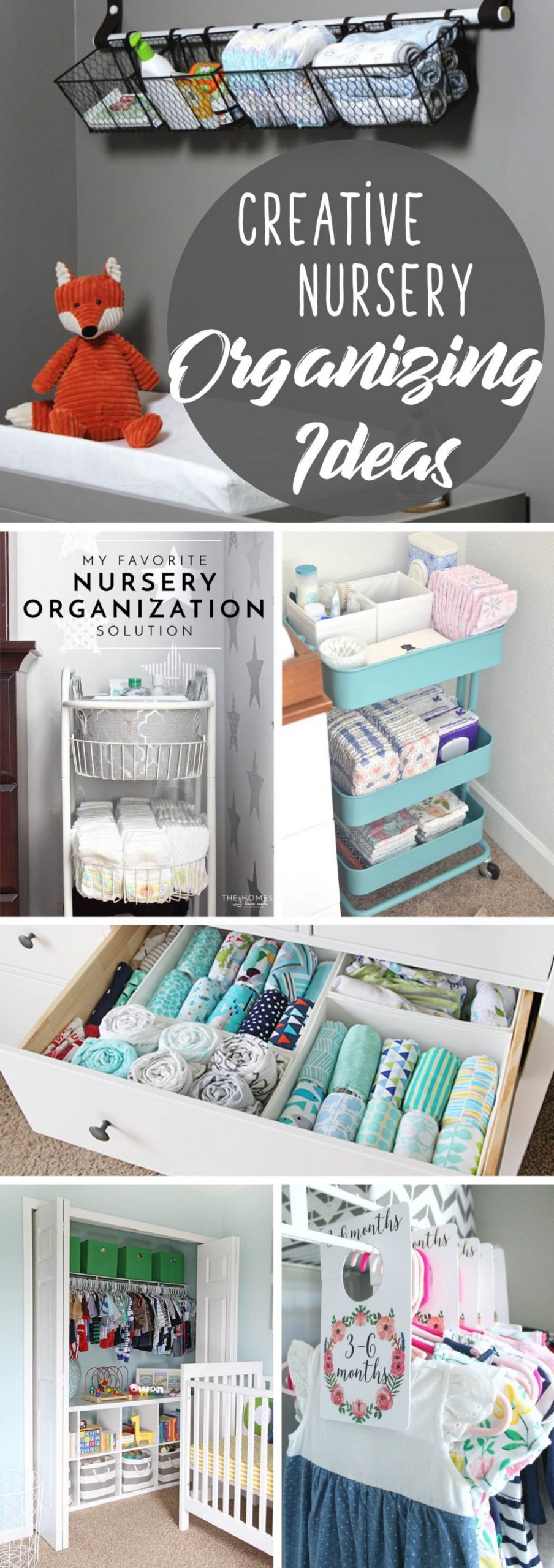 12 Creative Nursery Organizing Ideas Making the Baby Room Look  - Baby Room Organization