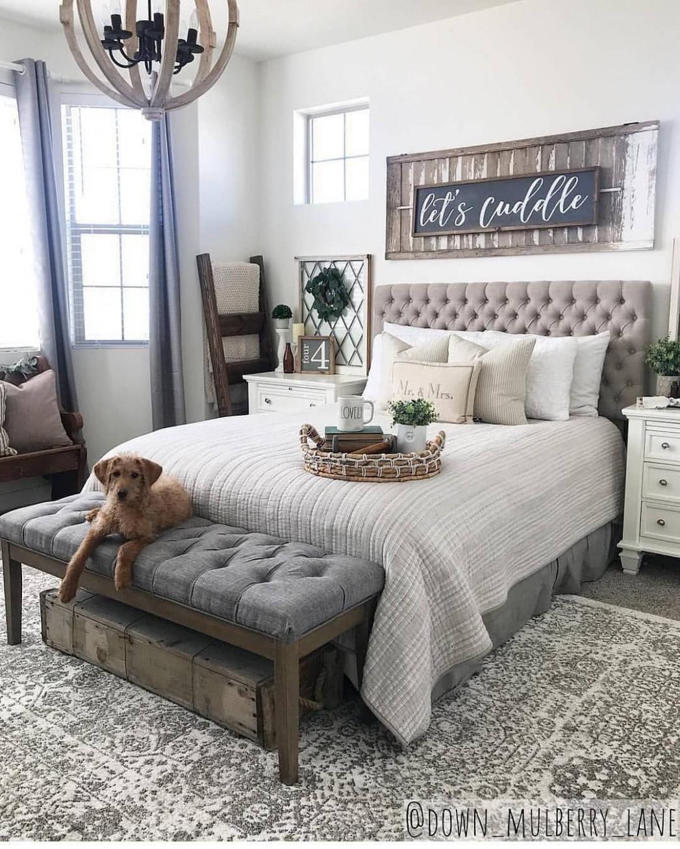12 Farmhouse Rustic Master Bedroom Ideas - ABCHOMY  Rustic master  - Bedroom Ideas Rustic