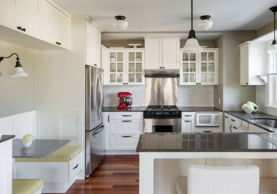12 Fresh White Kitchen Cabinets Ideas to Brighten Your Space  - Kitchens With White Cabinets And Dark Granite Countertops